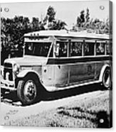 Gm's First Bus Line Acrylic Print