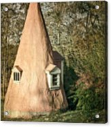 Gnome House Acrylic Print by Susan Isakson