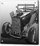 Go Hot Rod In Black And White Acrylic Print