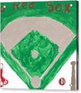 Go Red Sox Acrylic Print by Rosemary Mazzulla