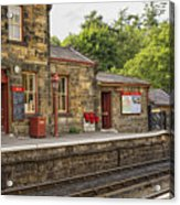 Goathland Railway Station, Train Station From Harry Potter Acrylic Print