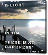 God Is Light Acrylic Print