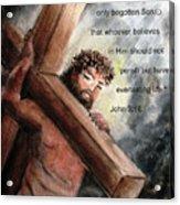 God So Loved The World Acrylic Print