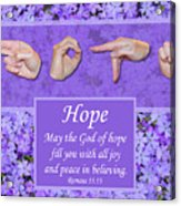 God Of Hope Acrylic Print