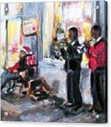 God Rest Ye Merry Gentlemen Acrylic Print by Sheila Tajima