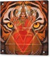 Goddess Durga Acrylic Print by Sue Halstenberg