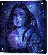 Goddess In Blue Acrylic Print