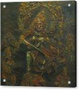 Goddess Kali Killing Demon Acrylic Print