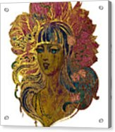 Goddess Lotus Acrylic Print