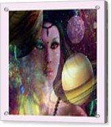 Goddess Of Planets Acrylic Print