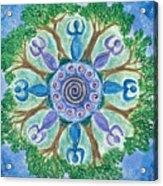 Goddesses Dancing Acrylic Print
