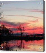 God's Hand On The Lake Acrylic Print