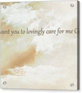 God's Loving Care Acrylic Print