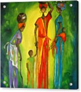 Gogo And Daughters Acrylic Print