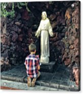 Going Before The Sacred Heart Of Jesus Acrylic Print