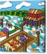 Going Fishing - Cedar Key Acrylic Print