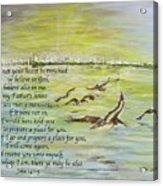 Going Home John 14 Acrylic Print