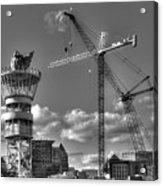 Going Up Midtown Atlanta Construction Art Acrylic Print