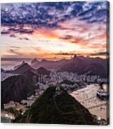 Going Up The Cable Car In Rio De Janeiro Acrylic Print