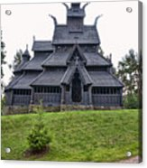 Gol Stave Church Acrylic Print