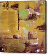 Gold Abstract Acrylic Print