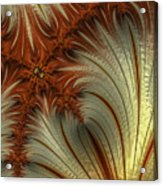 Gold And Burnt Orange Fractal Acrylic Print