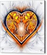 Gold And Sapphire Heart  Acrylic Print