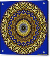 Gold And Sapphires  Acrylic Print