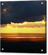 Gold Behind The Clouds Acrylic Print