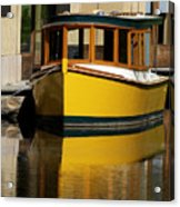 Gold Boat Reflects Acrylic Print