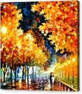 Gold Boulevard Acrylic Print