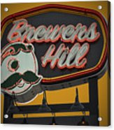 Gold Brewers Hill Acrylic Print