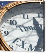 Gold Clock Acrylic Print