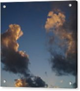 Gold Clouds  Acrylic Print