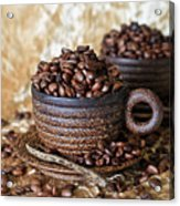 Gold Coffee Acrylic Print by Tracy Hall