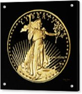 Gold Coin Front Acrylic Print