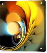 Gold Fan Leaves Acrylic Print