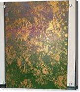 Gold Flowers Acrylic Print