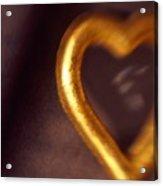 Gold Heart Mirror Acrylic Print