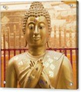 Gold Leaf Buddha Acrylic Print
