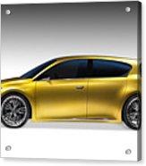 Gold Lexus Lf-ch Hybrid Car Acrylic Print