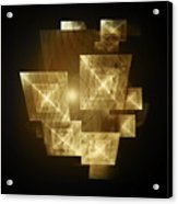 Gold Light And Panels Acrylic Print