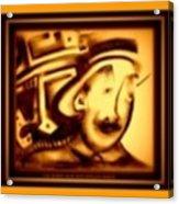 Gold Man Acrylic Print
