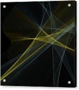 Gold Mine Computer Graphic Line Pattern Acrylic Print