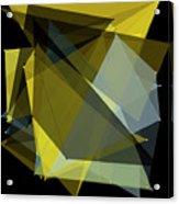 Gold Mine Polygon Pattern Acrylic Print
