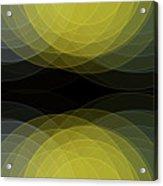 Gold Mine Semi Circle Background Horizontal Acrylic Print