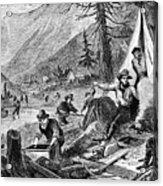 Gold Mining, 1853 Acrylic Print