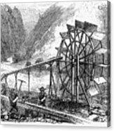 Gold Mining, 1860 Acrylic Print