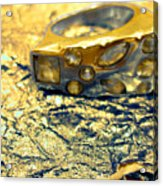Gold On Gold Acrylic Print