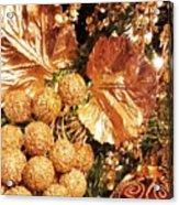 Gold Ornaments Holiday Card Acrylic Print